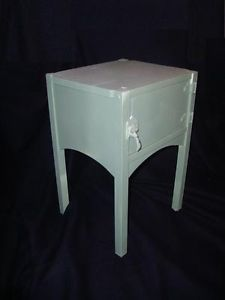 Vintage Ice Box Side Table Painted Cooler End Table Nice