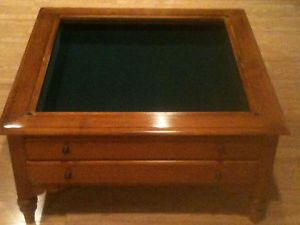 Ethan Allen Curio Map Coffee Table Great Shape