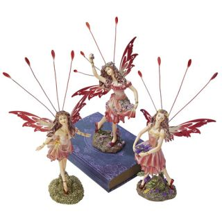 Enchanting Victorian Butterfly Wings Fairy Figurines Fairies Statue Set of Three