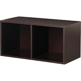 Foremost Holdems Modular Cube Storage System, Espresso 30H x 15W x 15D Divided Cube