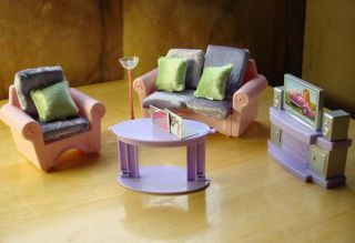 Doll House Barbie Full House Furniture Lot Set 100 PC