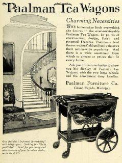 1926 Ad Paalman Household Furniture Tea Wagon Hospitality Grand Rapids Michigan