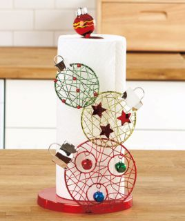 Christmas Paper Towel Holder Kitchen Table Counter Home Decor Holiday Snowman ...