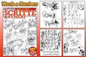 Script Numbers Tattoo Flash Design Book 66 Pages Cursive Writing Art Supply