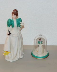 Avon Mrs Albee 1995 Full and Mini Figurine Statue Rep Award Excellent Condition