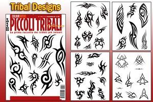 Piccoli Tribal Tattoo Flash Design Book 64 Pages Cursive Writing Art Supply