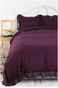 Urban Outfitters Solid Edge Ruffle Duvet Cover Twin Full Queen Bedding