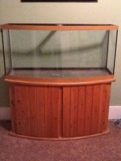 75 gallon curved glass bow front fish marine tank aquarium for 90 gallon fish tank stand