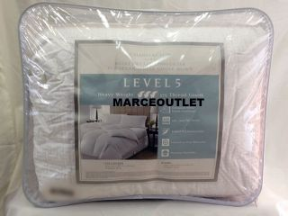 Charter Club Level 5 Links European White Down Comforter Full Queen Heavy Weight
