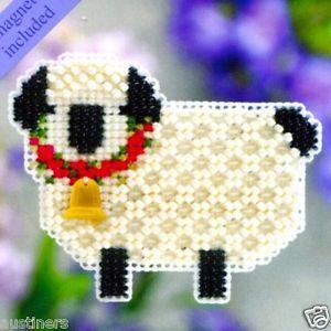 Little Lamb Beaded Cross Stitch Kit Mill Hill 2011 Spring Bouquet