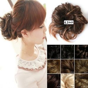 Stylish Dish Hair Bun Wig Ponytail Accessories Hairpiece Updo Scunchies New s L