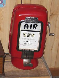 Vintage Eco Air Meter Pump Model 97 Gas Station Air Meter