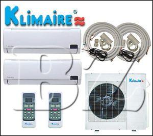 Dual Zone 12000 12000BTU Inverter Ductless Mini Split Air Conditioner Heat Pump