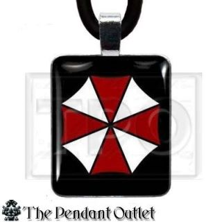 Resident Evil Biohazard Zombie Umbrella Corporation Horror Gamer Charm Necklace