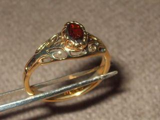 Sarah Coventry Jewelry Antique Garnet Ladies Ring 408