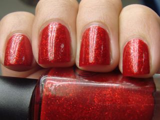 ★color Club★ Ruby Slippers Red Glitter Shimmer Nail Polish