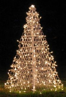 4' White Crab Pot Christmas Tree Pre Lit North Carolina Coast Seashore Pier Dock
