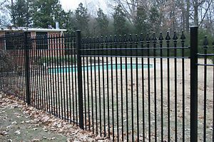 New Wrought Iron Fence Panels 6 ft High x 8 ft Long