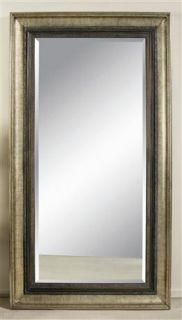 Leaning Floor Mirror w Antique Silver Bronze Accent Frame M2633BEC