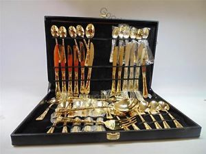 Wm Rogers Sons Gold Toned Silverware Set 232