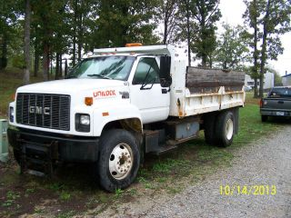 1996 GMC Contractors Dump Truck w 10ft Western Plow