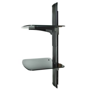 Component Shelf Wall Mount AV DVD Cable Box Game Console TV Stereo Rack 2 Tier