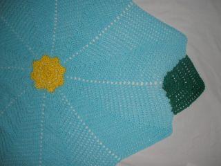 New Hand Crochet Baby Flower Garden Afghan Blanket