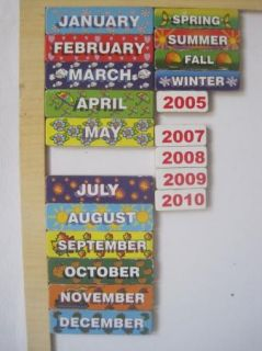 Melissa Doug Wooden My Monthly Calendar 133 with Magnetic Pieces Calendar Toy