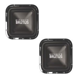 "2 New Hifonics BRZ12SQD4 12"" Square 1200W Car Audio Subwoofers 4 Ohm 1200 Watt"