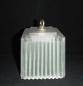 Depression Era Square Satin Glass Lamp Shade Boudior Replacement Satin Glass