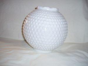 Vintage Milk Glass Hobnail Hurricane Lamp Shade Globe
