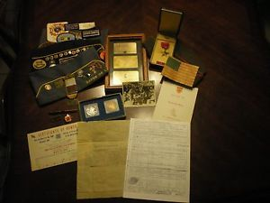 Named 101st Airborne 321st Glider Field Arty Ike Jacket Paperwork and Insignia