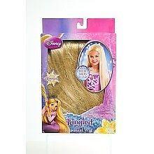 Disney Tangled Rapunzel 2 Feet Girls Child Wig Long Blond Hair Halloween Costume