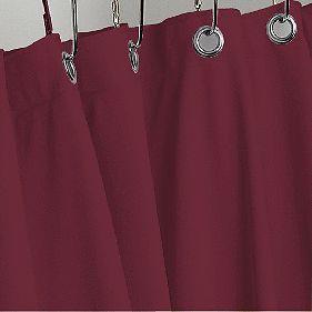 Burgundy Heavy Duty Vinyl Shower Curtain Hotel Weight Metal Grommets New