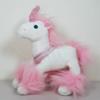 "Small Misty Unicorn Plush White Pink 6"" 15cm"
