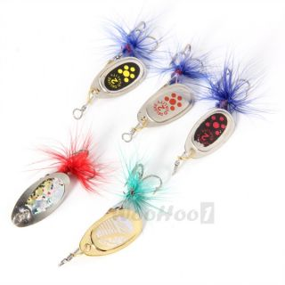 Lake Sea Trout Fishing Tackle Hook Tool Spoon Lure Bait Baits