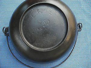 "Pre Griswold Cast Iron ""Erie"" 2 Scotch Bowl Pat D Mar 1891 Very Nice"