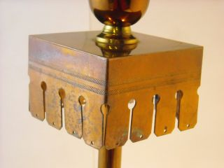 Tall Thin Metal Candle Holder Lamp Base