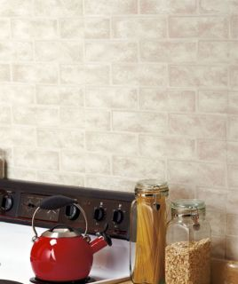 Brick Wall Covering Prepasted Textured Vinyl Wallpaper Home Improvement Decor