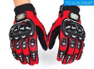 Pro Biker Motorcycle Biker Motocross Racing Outdoor Sport Gloves Red M L XL XXL