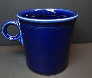 Fiestaware Tom Jerry Mugs Cobalt Blue Ring Handled Homer Laughlin