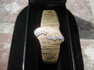 Vintage Baume Mercier Ladies 14k Gold Diamond Watch