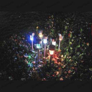 Color Changing LED Solar Power Outdoor Yard Path Garden Landscape Lamp Light