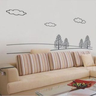 New Winter Landscape Graffiti DIY Wall Decor Mural Decal PVC Stickers Wallpaper