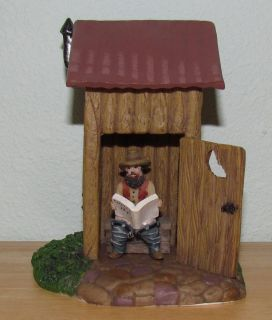 Holiday Time Outhouse Cowboy Christmas Snow Village Accessory Landscape Accent
