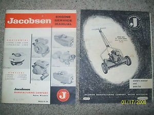 Vintage Jacobsen Engine Service Repair Manual Reel Mower Lawn Queen Parts List