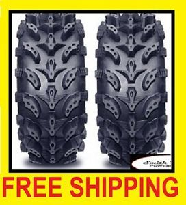 Pair 2 6 Ply 22x8 10 Interco Swamp Lite ATV Tires 22 8 10 Mud Tire 6 Ply