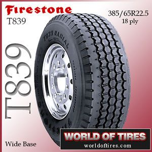 Firestone T839 385 65R22 5 385 65R22 5 Semi Truck Tires Super Single 22 5 Tires