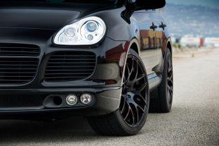 """22"""" Porsche Cayenne s Turbo Ruger Mesh Matte Black Concave Wheels Rims"""