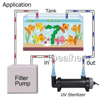 Brand New 5W UV Light Sterilizer Aquarium Fish Tank Lamp Cleaning